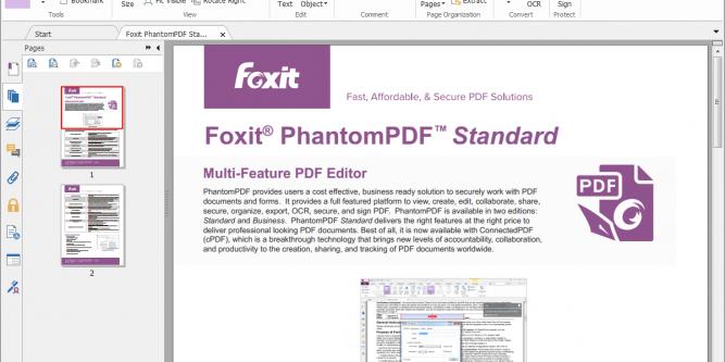 what is foxit phantompdf printer